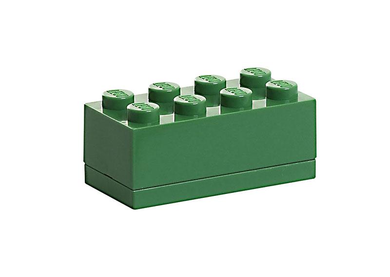 lego storage aufbewahrung mini box 8 2x4 dunkel gr n schwarzer skorpion ebay. Black Bedroom Furniture Sets. Home Design Ideas